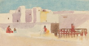 Hercules Brabazon Brabazon, Walls of a North African City, British, 1821 - 1906, , watercolor over graphite on laid paper, Joseph F. McCrindle Collection